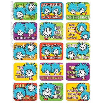 Eureka Success Sticker, Dr. Seuss Thing 1 and 2, 120/Pack