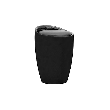 CorLiving DPV-600-S Storage Stool in Black Leatherette