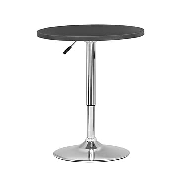 CorLiving DAW-500-T Adjustable Height Round Table in Black