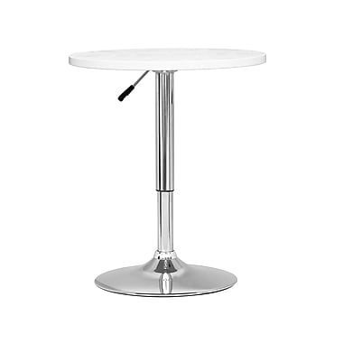 CorLiving DAW-510-T Adjustable Height Round Table in White