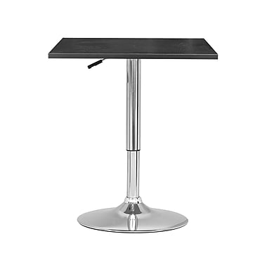 CorLiving DAW-600-T Adjustable Height Square Table in Black