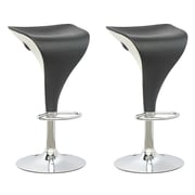 CorLiving Adjustable Two Toned Barstool, Set of 2