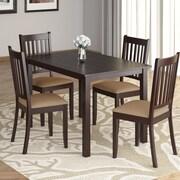 CorLiving – Ensemble de salle à manger 5 pièces DRG-595-Z de la collection Atwood avec sièges en microfibre beige