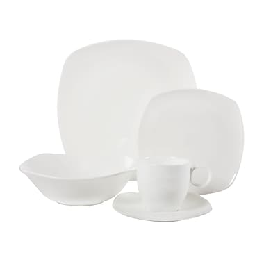 Maxwell & Williams Cashmere Square Coupe 20 Piece Dinner Set