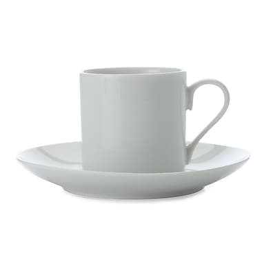 Maxwell & Williams White Basics Straight Sided Demi Tasse Cup & Saucer, 12/Pack