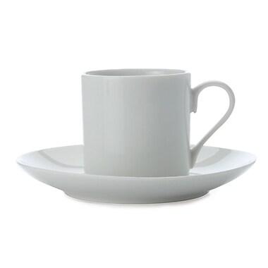 Maxwell & Williams – Petite tasse à thé et soucoupe White Basics, coupe droite, 12/paquet
