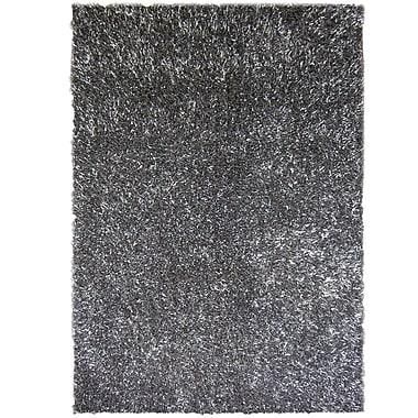 Lanart – Tapis à poil long Fashion, 4 x 6 pi, gris