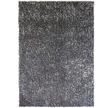 Lanart – Tapis à poil long Fashion, 5 pi x 7 pi 6 po, gris