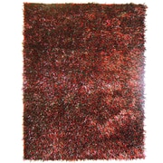 Lanart Fashion Shag Area Rug, Red