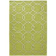 Lanart Diamond Flat Weave Area Rug, Green