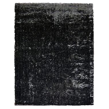 Lanart Metro Silk Area Rug, 9' x 12', Black