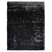 Lanart Metro Silk Area Rug, Black