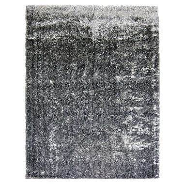 Lanart Metro Silk Area Rug, 9' x 12', Black and White