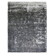 Lanart Metro Silk Area Rug, Black and White