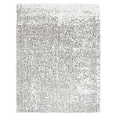 Lanart – Tapis décoratif en soie Metro, 3 x 5 pi, blanc