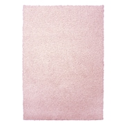 Lanart Modern Shag Area Rug, Pink Blush