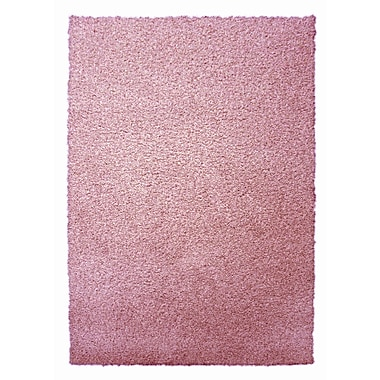 Lanart – Tapis moderne à poil long, 9 x 12 pi, flamand rose
