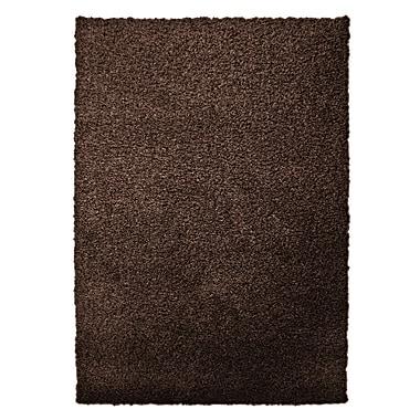 Lanart – Tapis moderne à poil long, 9 x 12 pi, brun noisette
