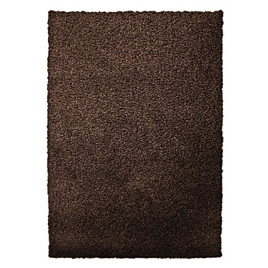 Lanart – Tapis moderne à poils longs, 8 x 10 pi, brun noisette