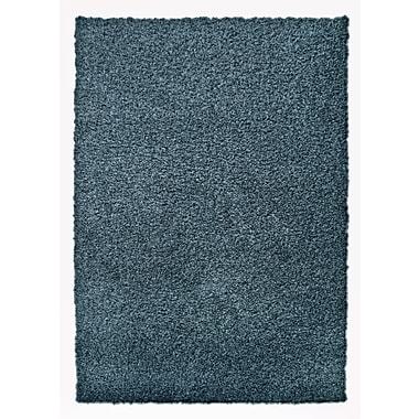 Lanart – Tapis moderne à poils longs, 4 x 6 pi, bleu indigo