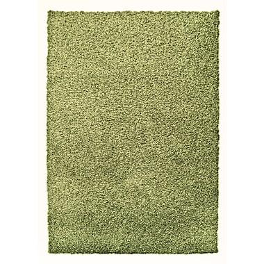 Lanart – Tapis décoratif à poils longs Modern, 2 x 8 pi, citron vert