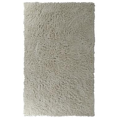 Lanart – Tapis à poil long moderne, 2 x 8 pi, blanc