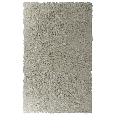 Lanart Modern Shag Area Rug, 6' x 8', White
