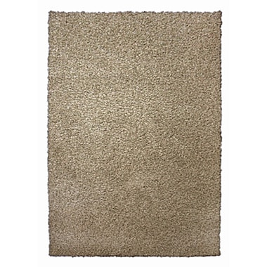 Lanart Modern Shag Area Rug, 4' x 6', Brown Maple