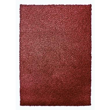 Lanart – Petit tapis moderne à poil long, 4 x 6 pi, rouge