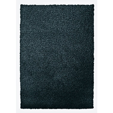 Lanart Modern Shag Area Rug, 6' x 8', Blue Sailor