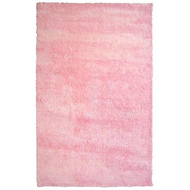 Lanart – Tapis décoratif à poils, 5 x 8 (pi), rose