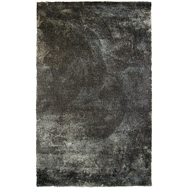 Lanart Fur Shag Area Rug, 8' x 10', Charcoal