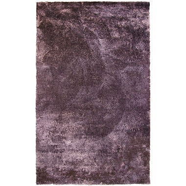 Lanart Fur Shag Area Rug, 5' x 8', Purple