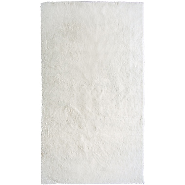 Lanart Fur Shag Area Rug, White