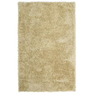 Lanart – Doux tapis moderne à poil long, 5 x 8 pi, beige