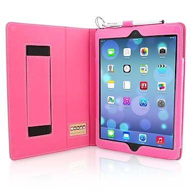 Snugg B00HUQWN20 Polyurethane Leather Folio Case Cover and Flip Stand for Apple iPad Air/iPad 5, Hot Pink