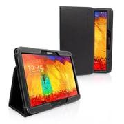 Snugg Leather Flip Stand Cover Case W/Elastic Strap F/Samsung Galaxy Note 10.1 2014 Edition, Black