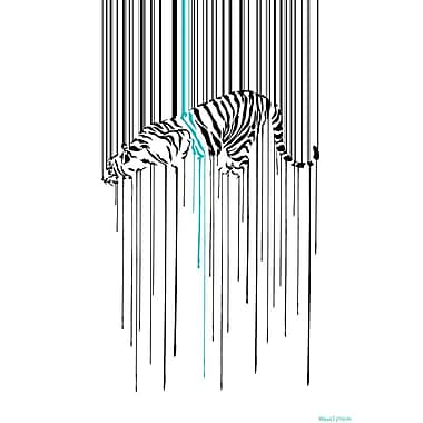 Maxwell Dickson ''Tiger Stripe'' Graphic Art on Canvas; 48'' H x 36'' W