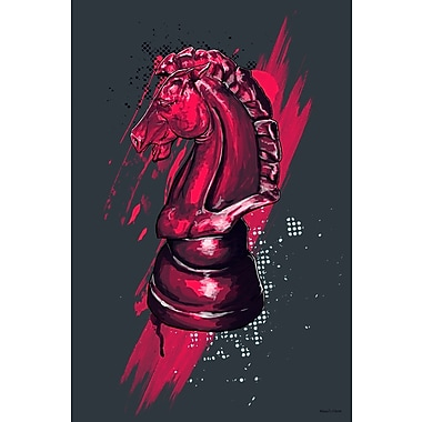 Maxwell Dickson ''Knight'' Graphic Art on Canvas; 24'' H x 36'' W