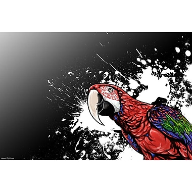 Maxwell Dickson ''Tropical Bird'' Graphic Art on Canvas; 18'' H x 24'' W