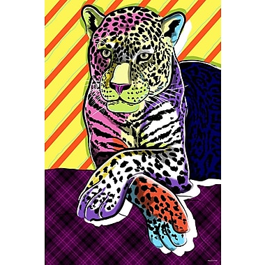 Maxwell Dickson ''Cat Colors'' Graphic Art on Canvas; 48'' H x 36'' W