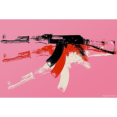 Maxwell Dickson ''AK-47'' Painting Print on Canvas; 18'' H x 24'' W