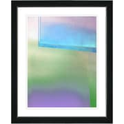Studio Works Modern ''Umfolozi - Blue'' by Zhee Singer Framed Painting Print; Satin Black