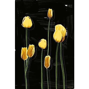 Maxwell Dickson ''Yellow Tulips'' Graphic Art on Canvas; 48'' H x 36'' W