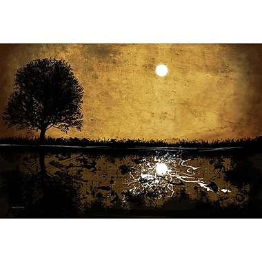 Maxwell Dickson 'Moonlight' Abstract Graphic Art on Wrapped Canvas; 40'' H x 60'' W x 1.5'' D