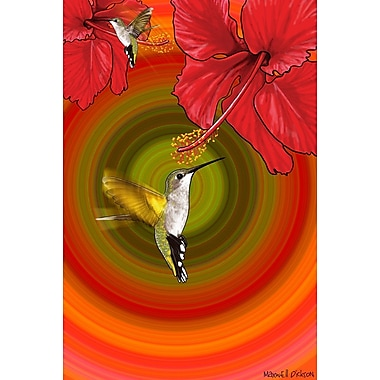 Maxwell Dickson ''Bloom'' Graphic Art on Canvas; 40'' H x 60'' W