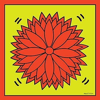 Maxwell Dickson ''Flower Power'' Graphic Art on Wrapped Canvas; 16'' H x 20'' W