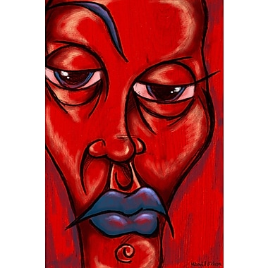 Maxwell Dickson ''Blue Lips '' Painting Print on Canvas; 16'' H x 20'' W