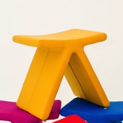 B&T Design PI Cat A Oslo Fabric Stool; Yellow