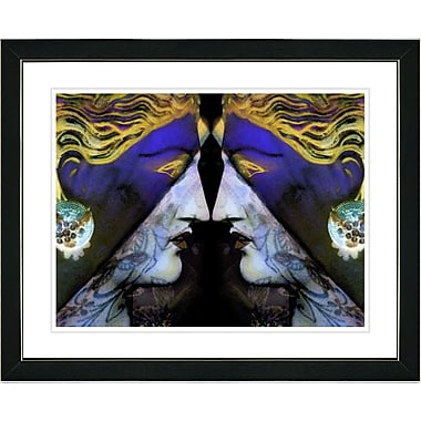 Studio Works Modern ''Enigma - Blue'' by Mia Singer Framed Painting Print; Satin Black